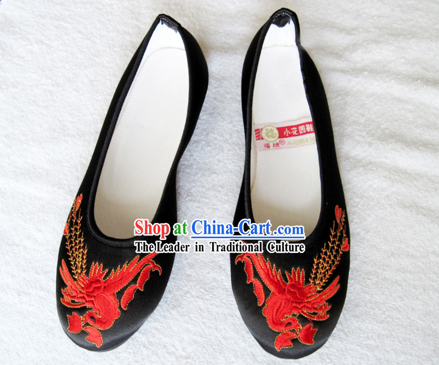 330. Traditional Chinese Phoenix Cloth Shoes for Women