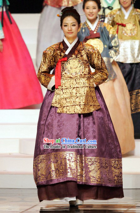 Ancient Korean Palace Empress Costumes Complete Set