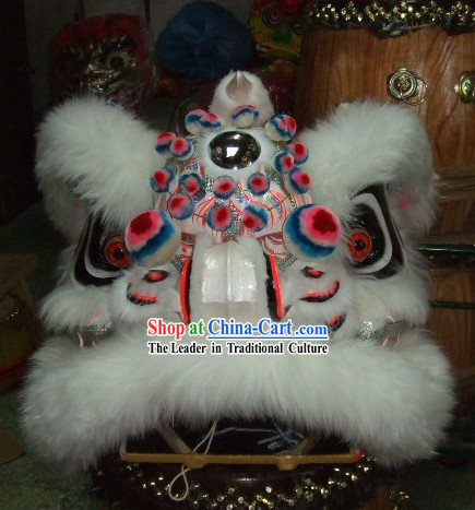 High School Students Size Sheep Fur Lion Dance Costume Complete Set