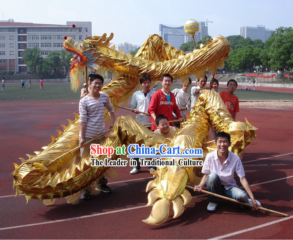 Professional Stage Performance Shinning Golden Dragon Dance Costume Complete Set