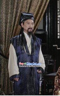 Gongsun Ce Costume and Hat Complete Set
