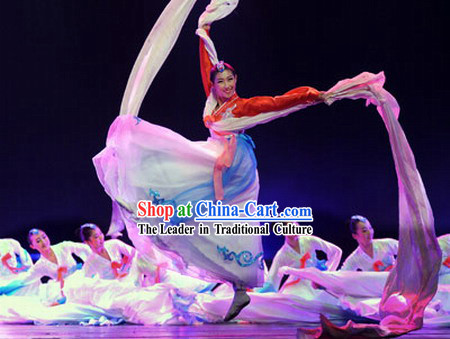 Chinese Minority Chaoxian Dance Costumes Complete Set