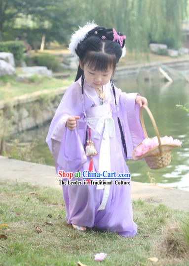 Chinese Hanfu Birthday Clothing for Girls