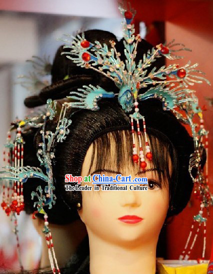 Chinese Classical Tang Dynasty Hair Decoration and Wig for Women