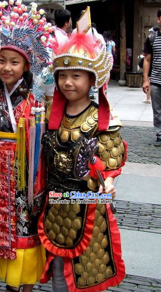 Traditional Chinese General Armor Costumes Set for Children
