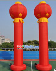 236 Inch Large Inflatable Chinese Red Lantern Column