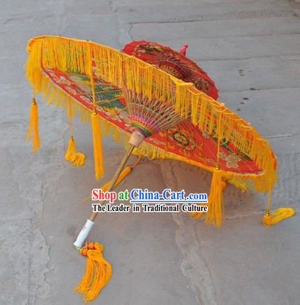 Two Layers Chinese Hand Made Dragon Umbrellas