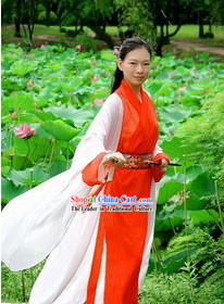 Ancient Chinese Wuxia Dress Set for Women
