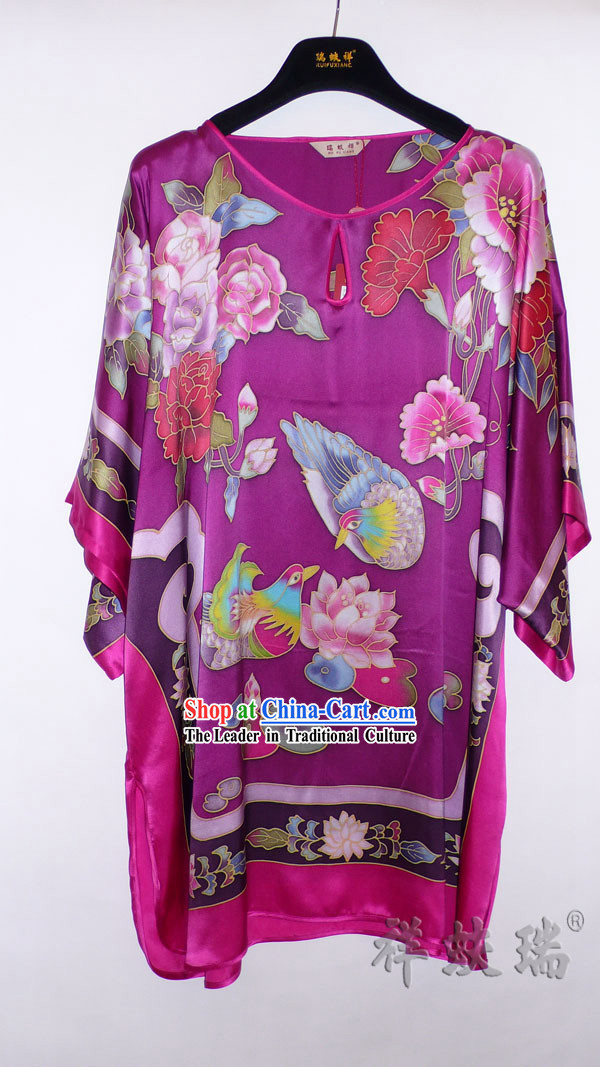 Rui Fu Xiang Hand Painted Silk Blouse for Women