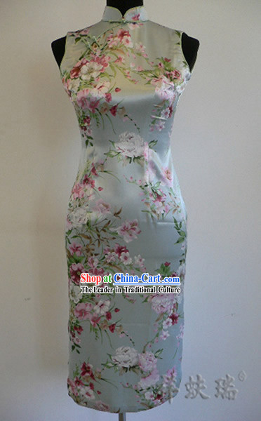 Rui Fu Xiang Silk Peony Qipao for Women
