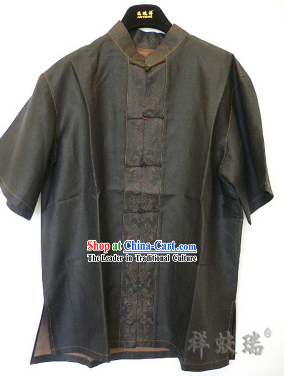 Rui Fu Xiang Watered Gauze Traditional Chinese Blouse for Men