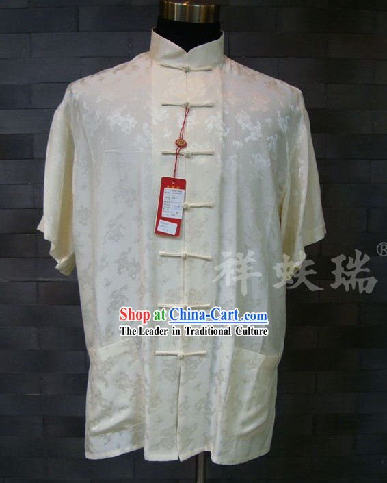 Rui Fu Xiang Silk Dragon Tang Shirt for Men