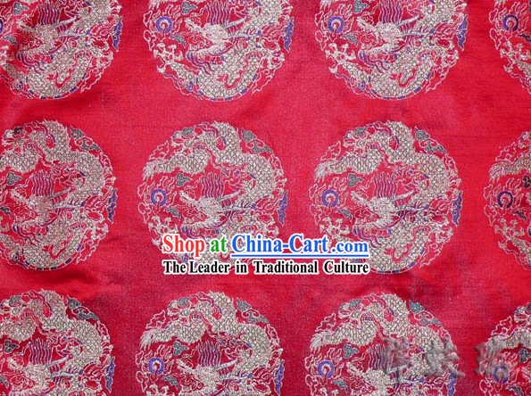 Beijing Rui Fu Xiang Dragon Figured Satin Fabric