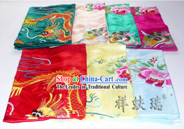 Beijing Rui Fu Xiang Silk Dragon Phoenix Wedding Silk Bedcover