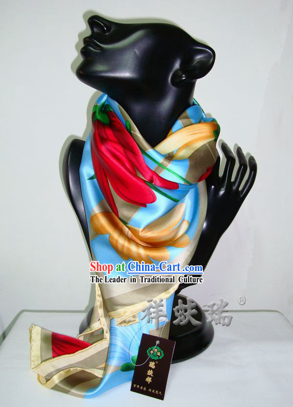 Chinese Silk Beijing Rui Fu Xiang Scarf for Women