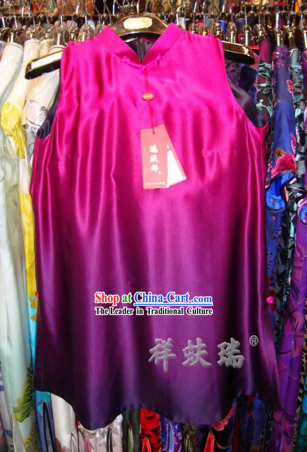 Beijing Rui Fu Xiang Silk Color Transition Shirt for Women