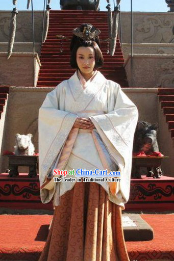 China Qin Dynasty Empress Clothing Complete Set
