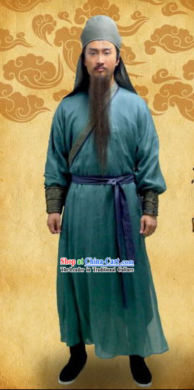 Ancient Chinese Fighter Kung Fu Men Costumes Full Set