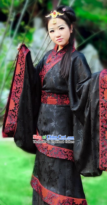 Chinese Quju Attire National Clothing Complete Set