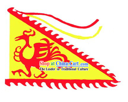 Traditional Chinese Triangle Phoenix Flag