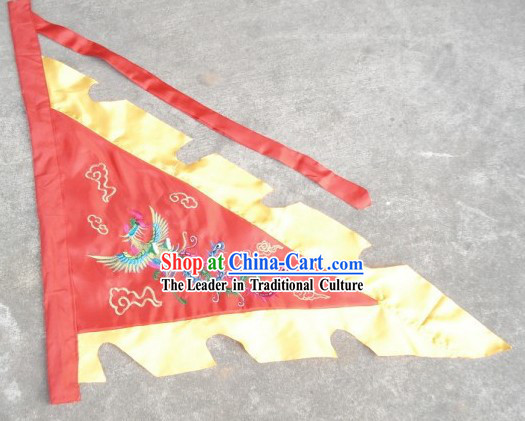 Traditional Chinese Embroidered Phoenix Flag