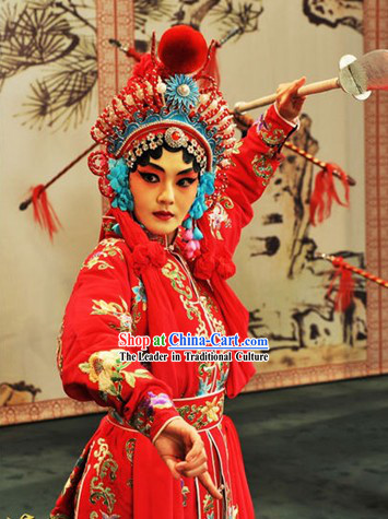 Chinese Peking Opera Dan Character Costumes Full Set