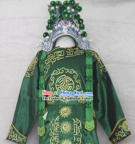 Chinese Guan Yu Costumes Full Set