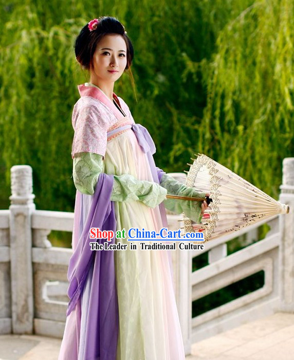 Ancient Chinese Tang Dynasty Hanfu Suit