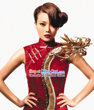 Chinese Traditional Red Lunar New Year Cheongsam