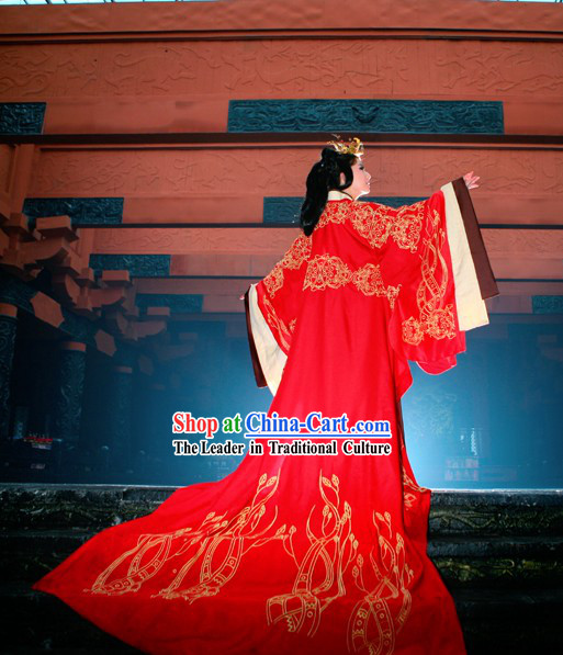Ancient Chinese Han Empress Phoenix Hanfu Wedding Dress Complete Set