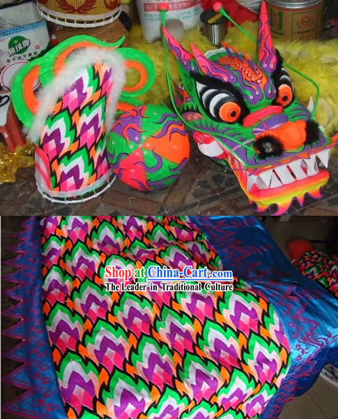 Glow in the Dark Fluorescent Dragon Dance Costume Complete Set