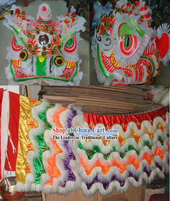 Ancient Chinese Style Lion Dancing Costume Complete Set