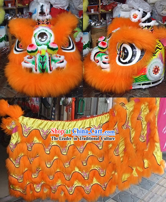 Supreme Luminous Lucky Bat Pattern Lion Dance Costume Complete Set