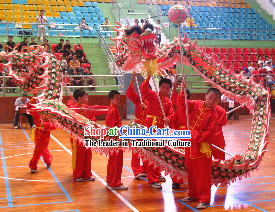 Luminous Competition and Parade Dragon Dance Costume Complete Set for Kids