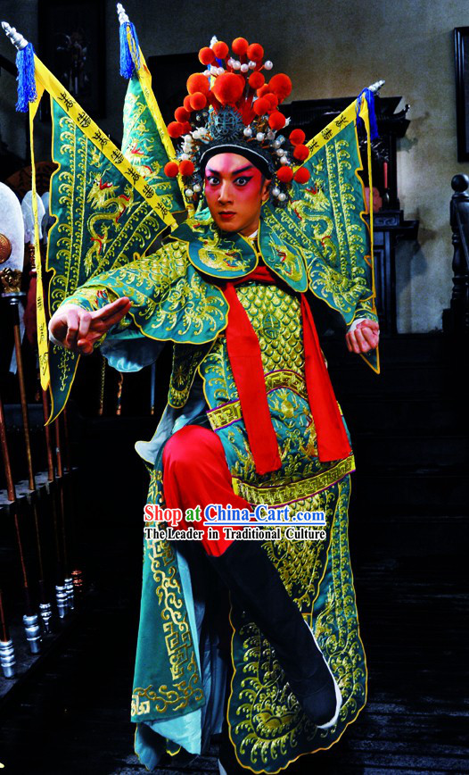 Peking Opera Da Kao General Armor Costumes Complete Set for Men