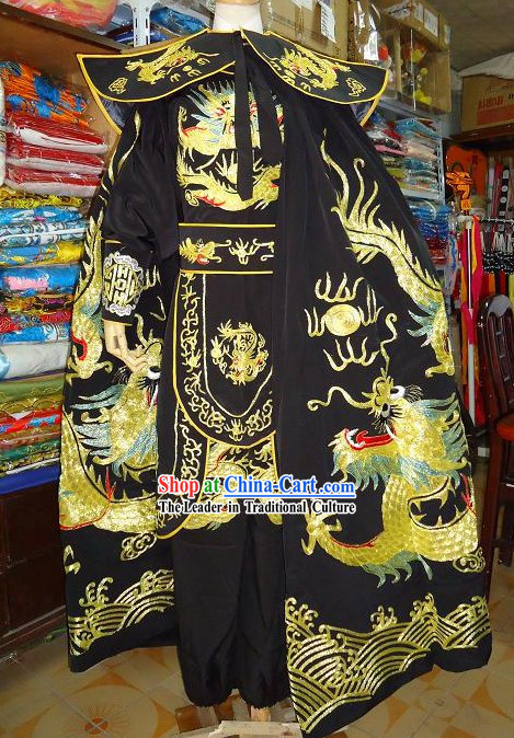 Bian Lian Stage Performance Costume Complete Set with Dragon Cape