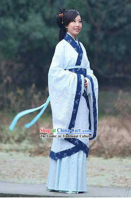 Ancient Chinese Women Beauty Hanfu Clothing Complete Set