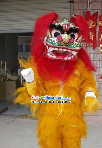 Top One Person Long Yak Fur Lion Dance Costume Complete Set