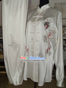 Chinese Silk Dragon Kung Fu Uniform for Men