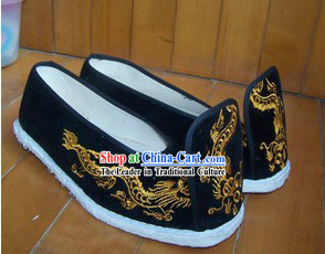 Ancient Chinese Clothing Embroidered Dragon Shoes for Men 2b27c252da06