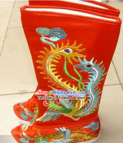 Ancient Chinese Empress Phoenix Boots