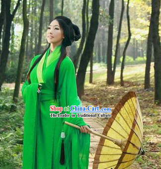 Film Hero Traditional Chinese Green Hanfu Robe