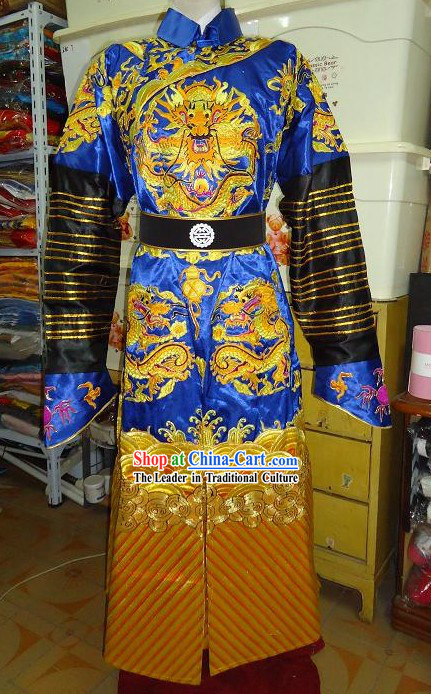Qing Dynasty Embroidered Dragon Costumes for Prince