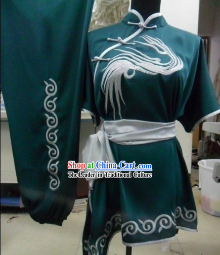 Silk Kung Fu Crane Embroidered Uniform