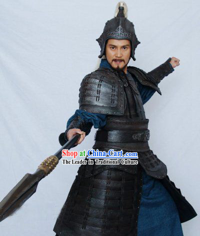 Yue Fei General Chinese Song Dynasty Costumes and Helmet Complete Set