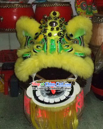 Supreme Yellow Wool FUT SAN Lion Dance Costume Complete Set