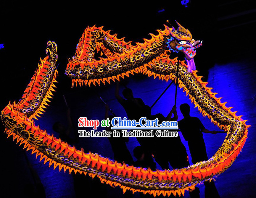 Professional Competition Luminous Dragon Dance Costumes Complete Set