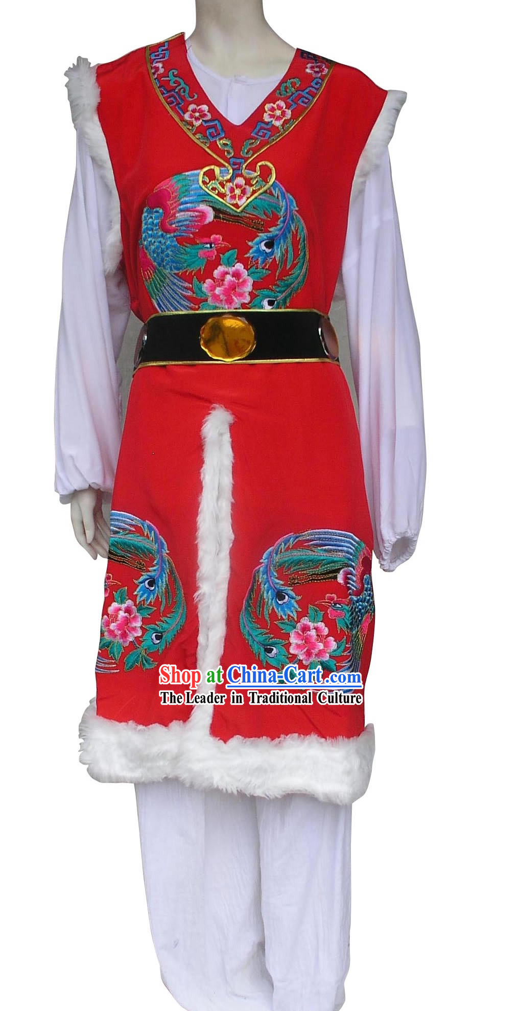 Traditional Chinese Baoyu Embroidered Red Jacket