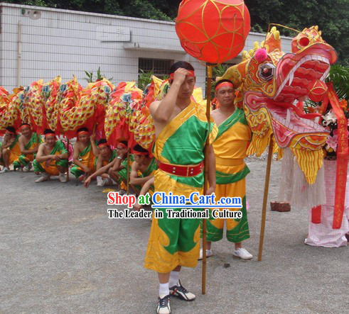 Chinese National Dragon Dancing Costumes Complete Set