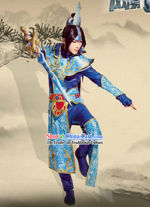 Ancient Chinese Journey to the West Prince Costume and Headpiece